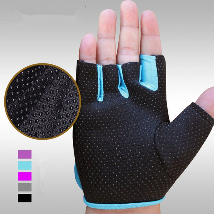 Hot Sale Half Finger Weight Lifting Gym Gloves Training Fitness Workout Wrist Wrap Exercise Glove for Men Women Plus Size Blue