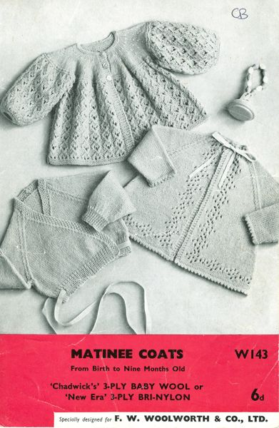 vintage collectable baby knitting pattern