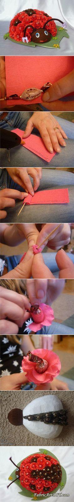 How to Make Chocolate Floral Ladybug Bouquet   www.FabArtDIY.com LIKE Us on Facebook ==> https://www.facebook.com/FabArtDIY