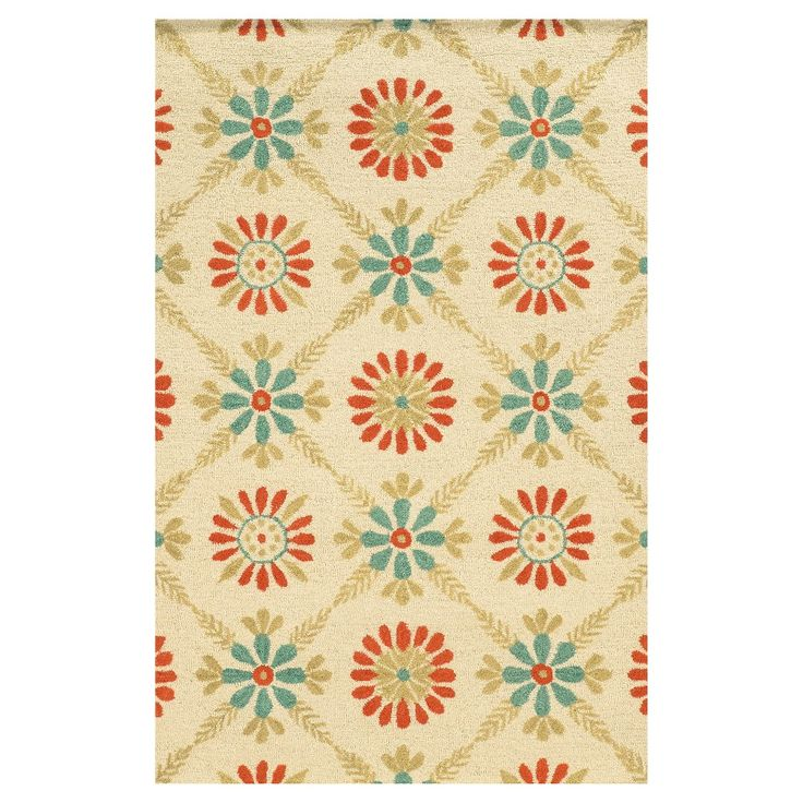 Rizzy Home Rockport Collection Hand Tufted Blended Wool Area Rug, Red
