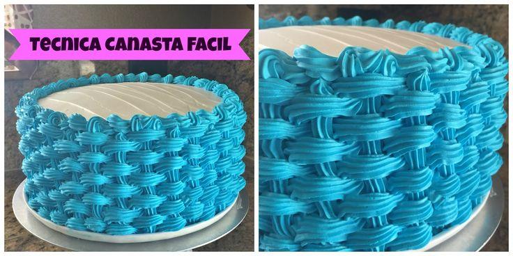 Como decorar un pastel técnica super fácil - Canasta En Un Pastel De Chantilly   Web del Bricolaje Diseño Diy