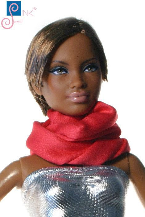 Doll clothes scarf: Mavra by Pinkscroll on Etsy