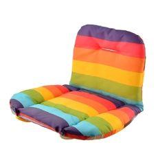 Soft Baby Stroller Cushion Rainbow Striped Seat Pads (Intl)