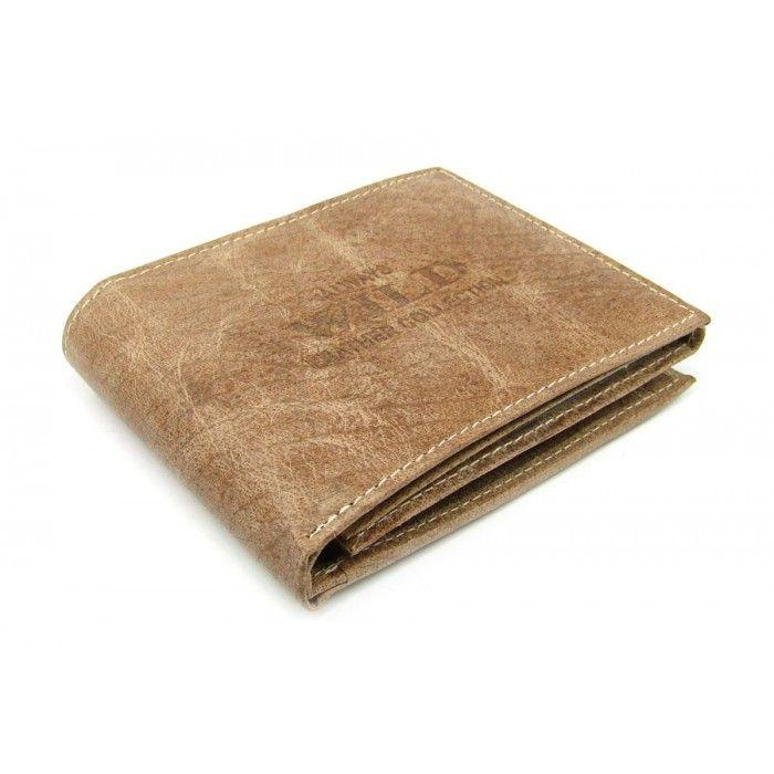 Peněženka kožená hnědá pánská - peněženky AHAL