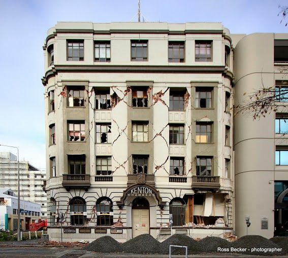 Kenton Chambers Building, Hereford Street, Christchurch, NZ post feb 2011 earthquake