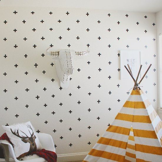 Jazz up your wall space with these easy washi tape wall decals.. Super fun to create and so affordable!!
