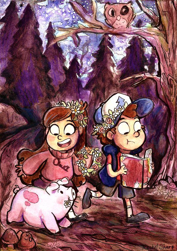 Gravity Falls Watercolor by sharpie91 on deviantART