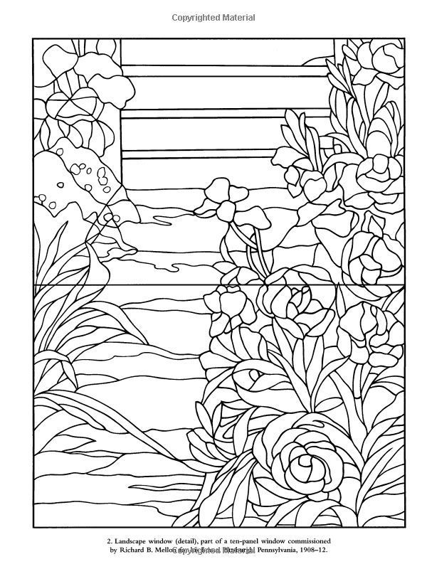 tiffany style stained glass patterns