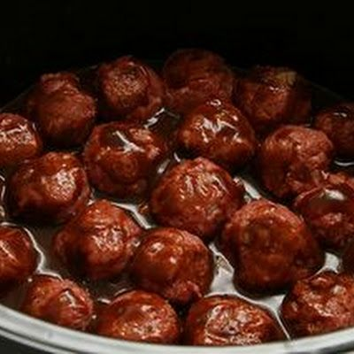 Crock pot grape jelly meatballs recipe meatball for Meatball appetizer recipe crockpot