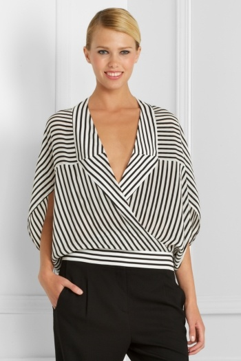 like the shape of this top, although i'd probably style it with a large black belt or oversized black headband.