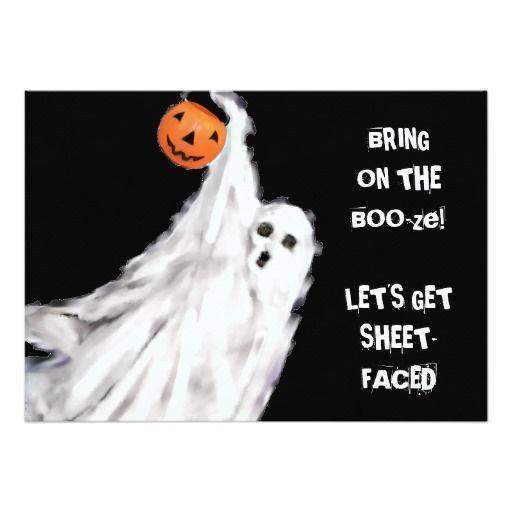 Funny Adult Halloween invitations