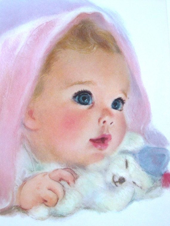 Vintage baby print. This is one in a set of 4 I had as a child.