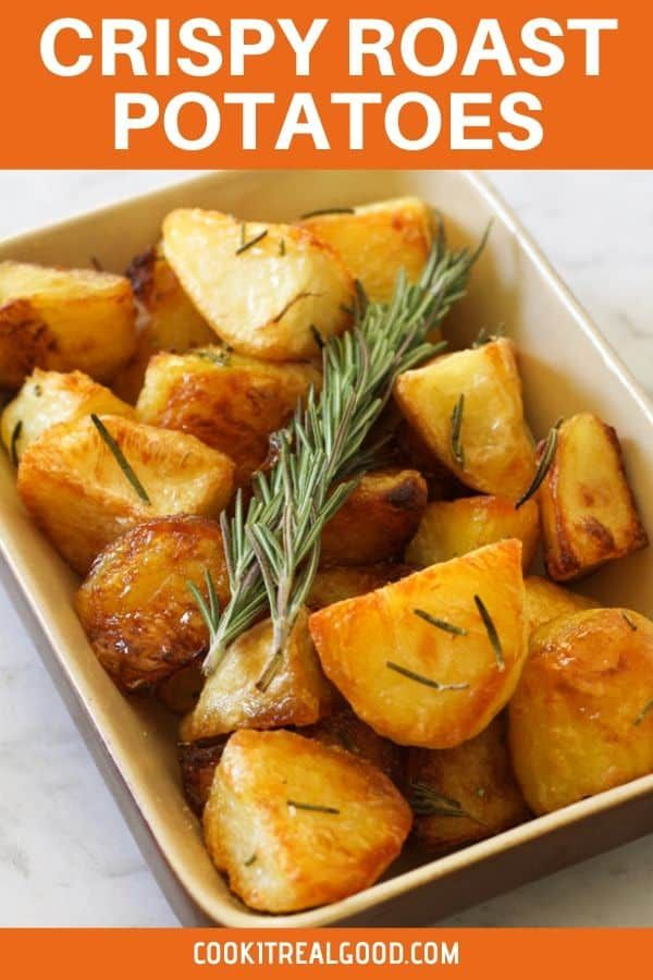 classic crispy roast potatoes with rosemary are the very best side dish these oven roasted p rosemary roasted potatoes crispy roast potatoes best side dishes pinterest