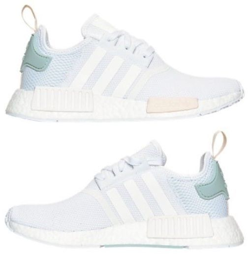 ADIDAS NMD RUNNER WOMEN\u0027s MESH CASUAL WHITE - TACTILE GREEN AUTHENTIC NEW  IN BOX | Adidas nmd and Nmd