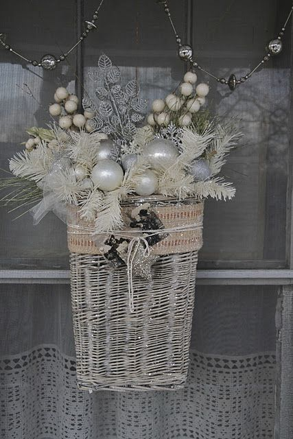 "Love the ""White Christmas basket"""