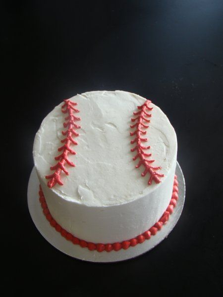 baseball cake, I will have to make this when my big boy starts baseball as a Lil celebration for his first sport.