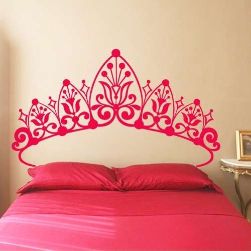 Princess headboard girls room wall decals stickers