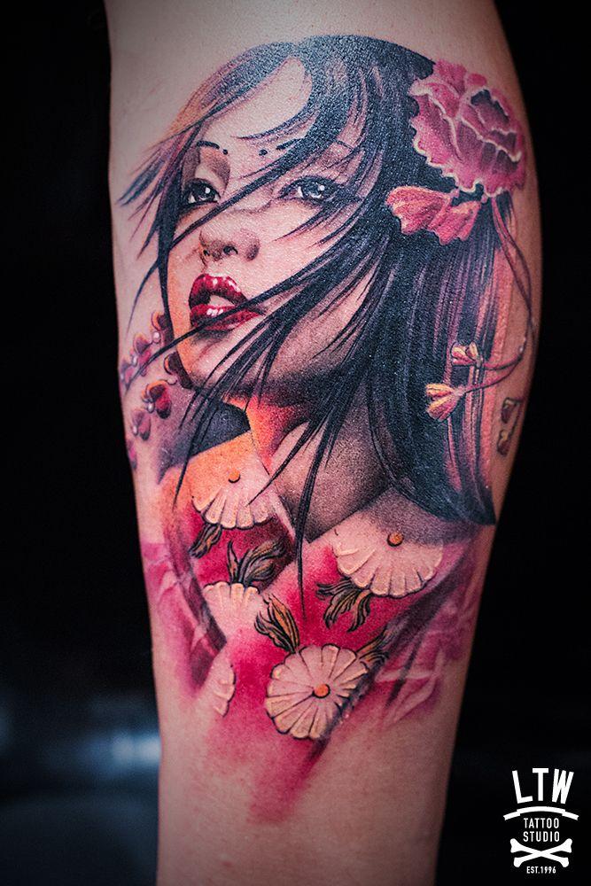 geisha por jon pall more tattoo ideas pinterest gueixa gueixas e tatuagens. Black Bedroom Furniture Sets. Home Design Ideas
