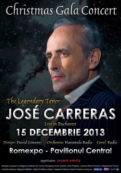 Jose Carreras aduce magia Crăciunului pe scena Romexpo în decembrie 2013
