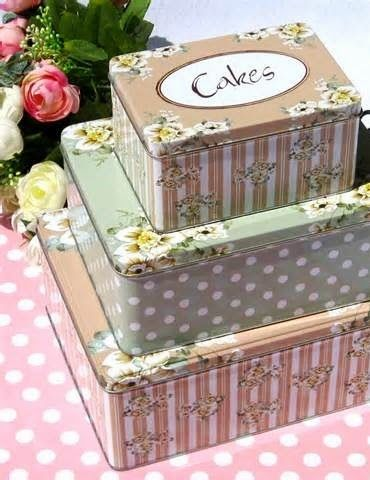 Cake Tins, These Are Perfect For Storing Your Baking In.