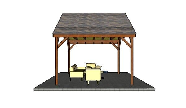 Building a 14x12 outdoor pavilion free gazebo plans for Build your own gazebo free plans