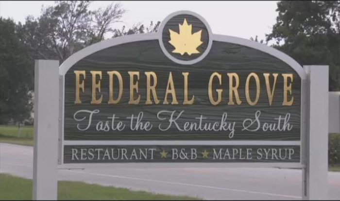 The story of Federal Grove, a restaurant and B&B in Auburn, Kentucky, dates all the way back to 1775.