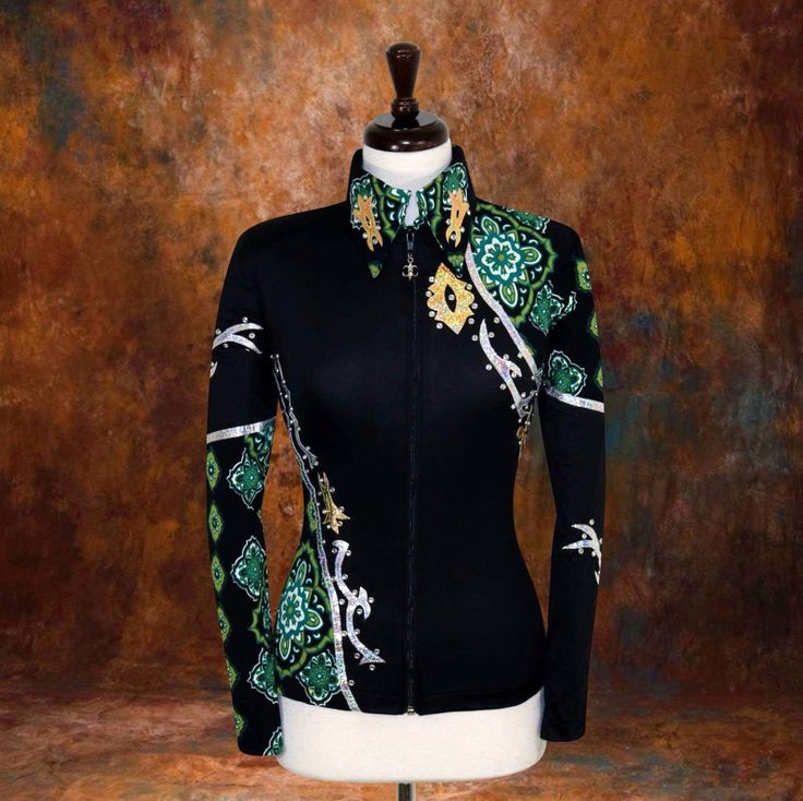 LARGE Showmanship Pleasure Horsemanship Show Jacket Shirt Rodeo Queen Western | eBay