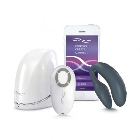 With We-Vibe 4 Plus, couples can connect in new exciting ways — whether they're in the same room or on a different continent. She can wear We-Vibe 4 Plus and her partner can tease and please her from the palm of their hand.  THE NO. 1 COUPLES VIBRATOR NOW HAS AN APP! #wevibe #couples #toys #innovation #mobile #erotouch