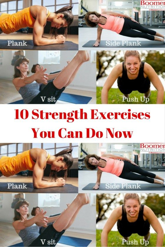 10 strength Exercises you can do now_pinterest