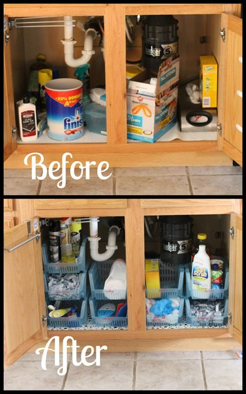 How to Organize Under the Kitchen Sink Cabinet from Super Sweet Life