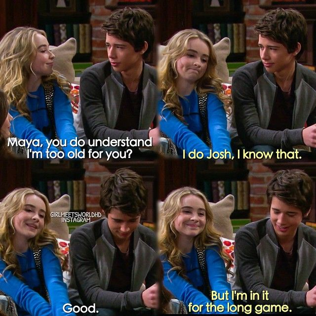 "#GirlMeetsWorld 1x17 ""Girl Meets Game Night"" - Maya and Josh. Interested in seeing their friendship grow. I'm in it for the long game too."