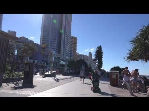 A Hot Day in winter in Surfers Paradise Queensland Australia