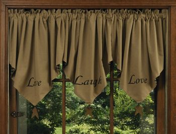 LIVE, LAUGH, LOVE VALANCES