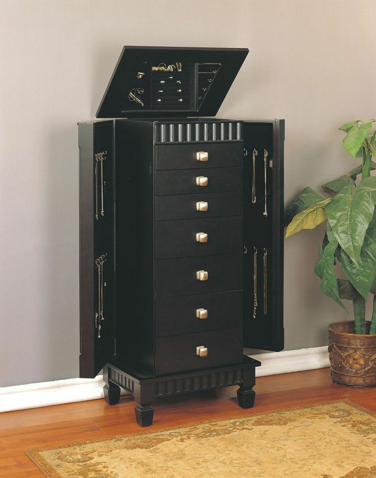 Contemporary Jewelry Armoire, Powell, Jewelry Armoires Collection | Home  Gallery Stores