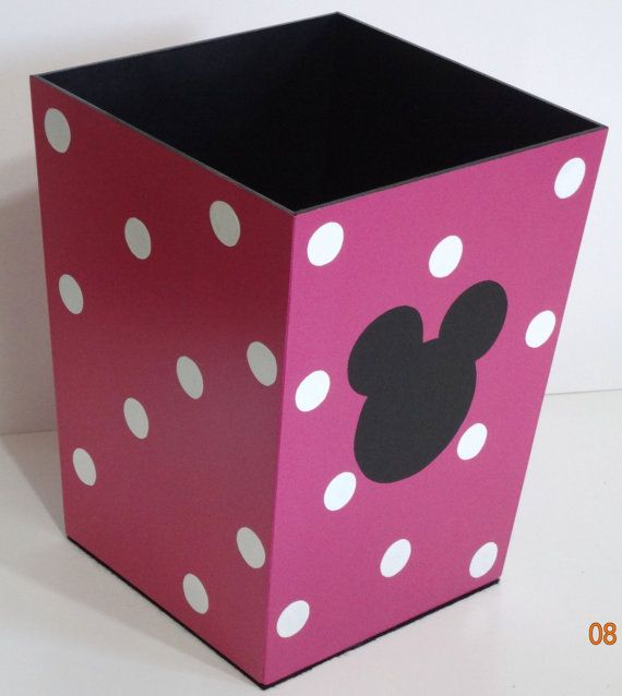 Waste Basket Minnie Mouse InspiredHot pink with by DREAMATHEME, $35.00