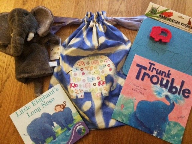 Trunk Trouble Elephant Story Sack Bundle by LollyAndCo on Etsy