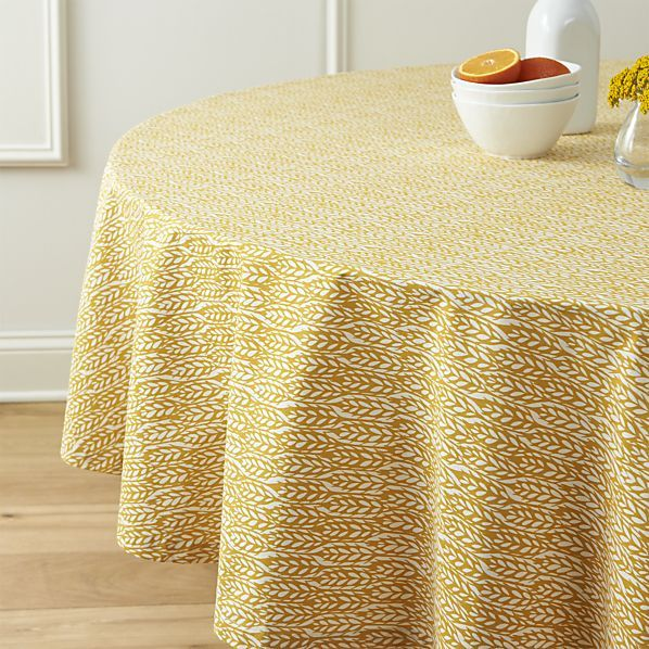 """Harvest 90"""" Round Tablecloth 