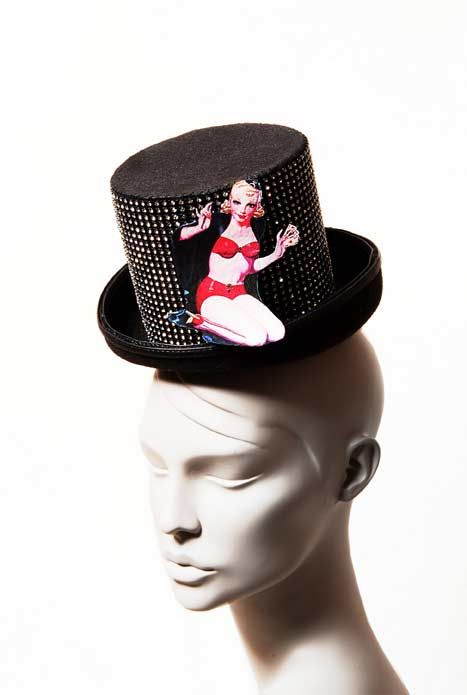 Wicked by Ipek Yaylacioglu Occasion millinery hats & hair accessory - Pin up magician hat