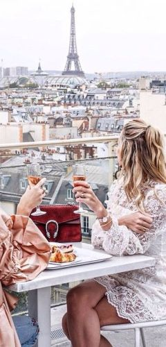 Chloe bag, lace and silk dresses, and bubbly in Paris