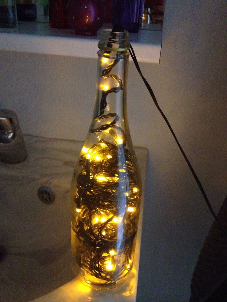 8 best wine bottles after it 39 s gone images on for How to make a lamp out of a glass bottle