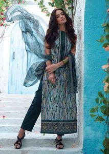 Ganga 3615 - Pakistani style Suit Dupatta with Plazo
