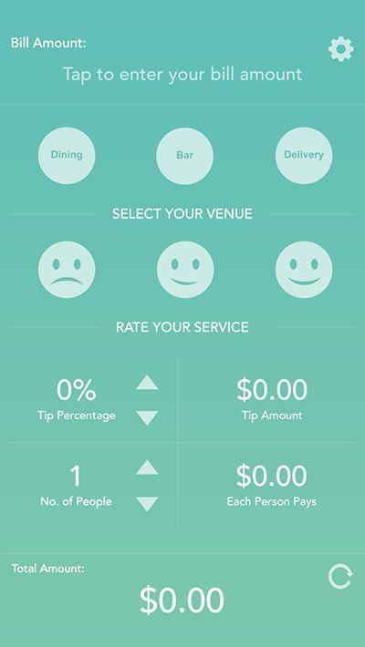 Gratuity   IPhone App UI Design Inspiration