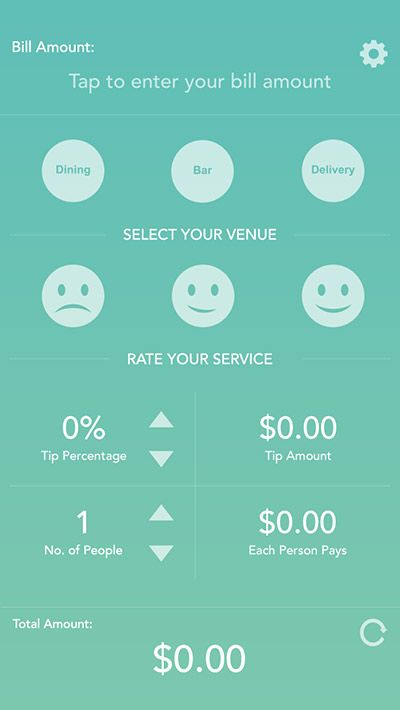 Gratuity - iPhone App UI Design Inspiration