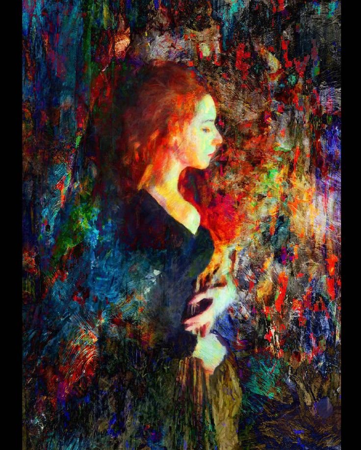 """Pause"". On everlasting retrospection. . . Prints available on www.mackill.com.  #art #painting #mixedmedia"