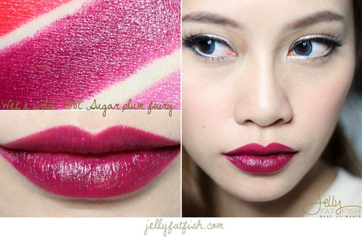 lipstick wet n wild 908c sugar plum fairy swatch mega