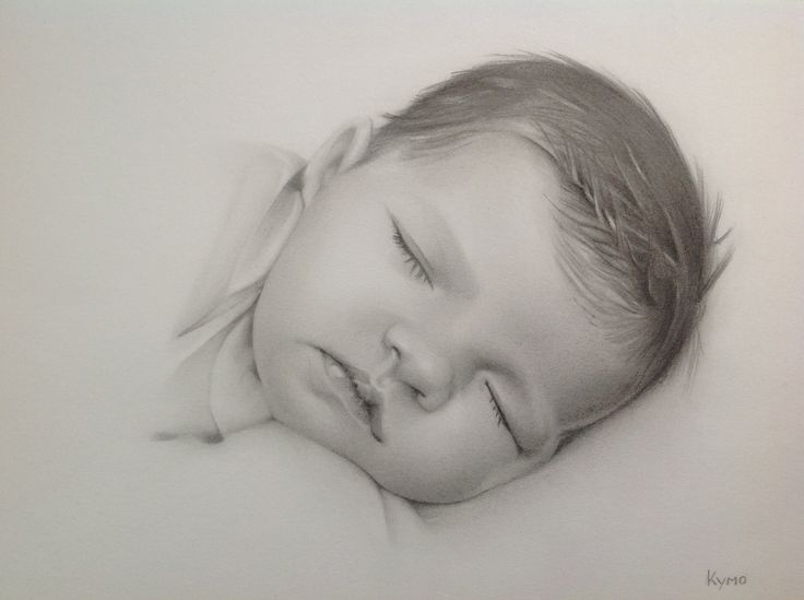 Pencil baby portrait made by Kymo-art.