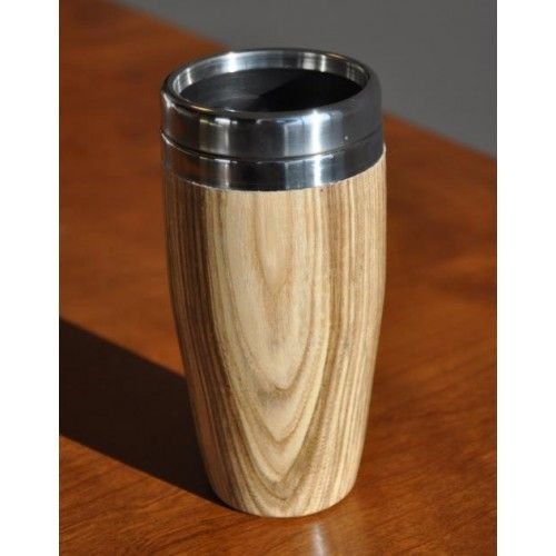 Coffee Travel Threaded Lid Mug Woodturning Kit (Stainless) Fun Projects