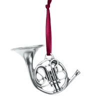 Reminds me so much of 'The Christmas Carol'    French Horn Pewter Ornament - $16