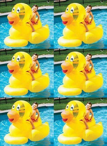#beachaccessoriesstore 6) Swimline 9062 Inflatable Swimming Pool Giant Ducky Ride-On Floating Toy Rafts: We are… #beachaccessoriesstore