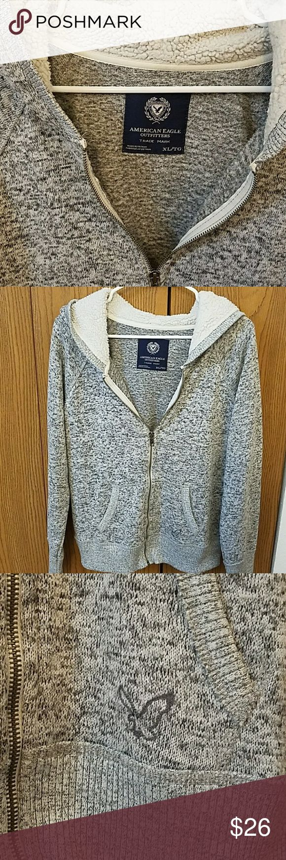 American Eagle zip up hoodie American Eagle XL gray, black and white speckled zip up hoodie, no flaws. True to size, questions and offers welcome :) American Eagle Outfitters Tops Sweatshirts & Hoodies